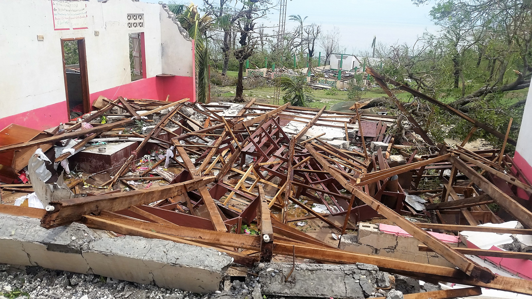 A local church in Jérémie the day after Matthew hit.