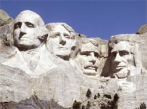Can you name the presidents on Mount Rushmore?