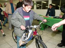 25 bikes were given out at this year outreach
