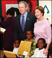 President Bush and Mrs. George W. Bush joined Shiloh Baptist Church in Virginia for an Angel Tree celebration